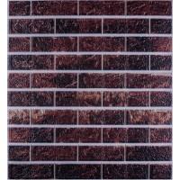 Самоклеюча декоративна 3D панель під цеглу темно коричневий мікс 700x770x5мм