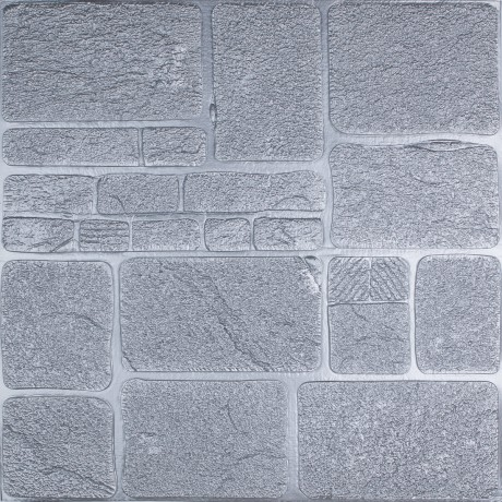Самоклеющаяся декоративная 3D панель серый камень
