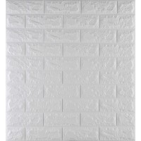 Самоклеюча декоративна 3D панель під білу цеглу 700x770x7 мм