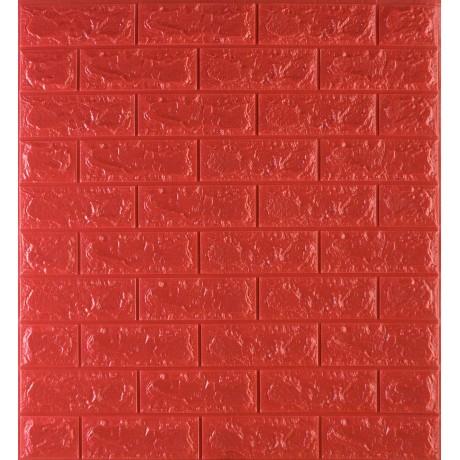 Самоклеющаяся декоративная 3D панель под красный кирпич