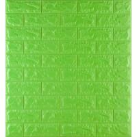 Самоклеющаяся декоративная 3D панель под зеленый кирпич 700x770x7мм