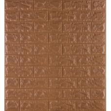 Самоклеющаяся декоративная 3D панель под коричневый кирпич 700x770x7мм