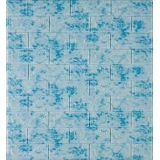 Самоклеющаяся декоративная 3D панель под кирпич голубой мрамор 700x770x5мм