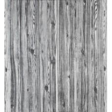 Самоклеюча декоративна 3D панель під дерево кольору зебри 700x700x7мм